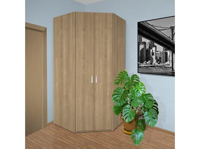 Rohová šatní skříň do ložnice Beta 33