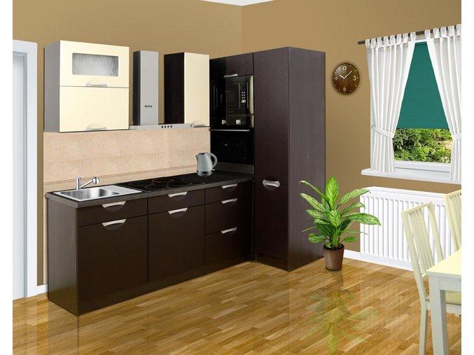 Moderní kuchyňská linka wenge-torino A7