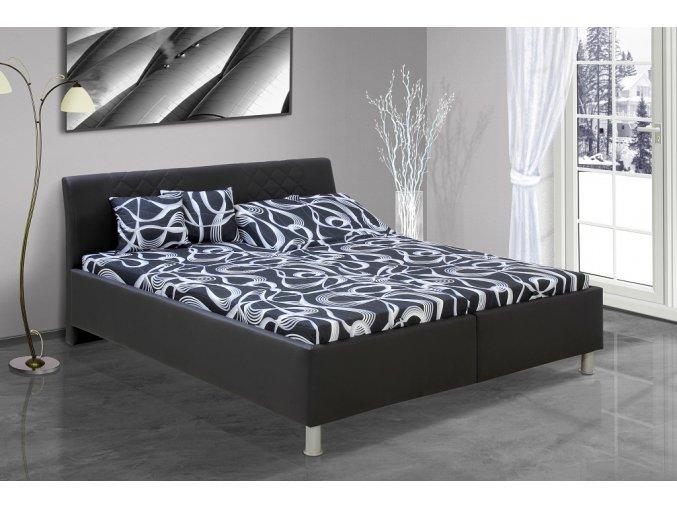 Manželská postel s úložným prostorem Julius + OBRAZ ZDARMA