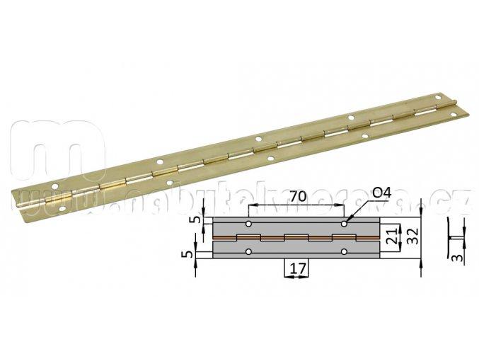 Piano závěs 2m