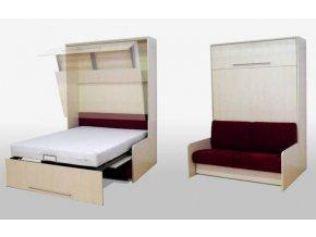 Výklopná postel s pohovkou VS 1055 200x140 cm