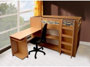 P2 Patrová postel se schůdky  + Obraz zdarma