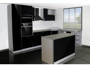 Moderní kuchyňská linka s vysokým leskem 05