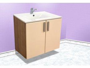 Závěsná koupelnová skříňka s umyvadlem Kristýna 4