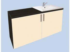 Závěsná koupelnová skříňka s umyvadlem Kristýna 9
