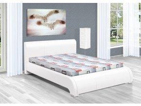 Luxusní postel 140x200 cm Seina s úložným prostorem  + obraz zdarma