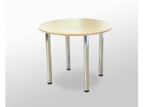 Kulatý jídelní stůl s kovovými nohami