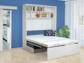 Výklopná postel s pohovkou VS 1063P, 200x140cm  + obraz zdarma