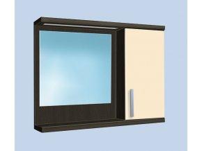 Závěsná koupelnová skříňka se zrcadlem Kristýna 15