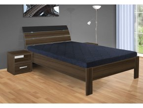 Dřevěná manželská postel 180x200 cm Darina ořech
