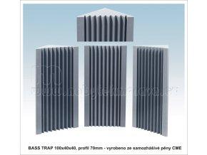 Akustická pěna BASS TRAP