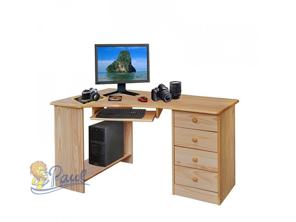 Rohový počítačový stůl 8846