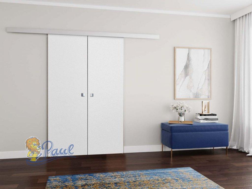 Drzwi MALIBU DUO 120 Białe zamknięte