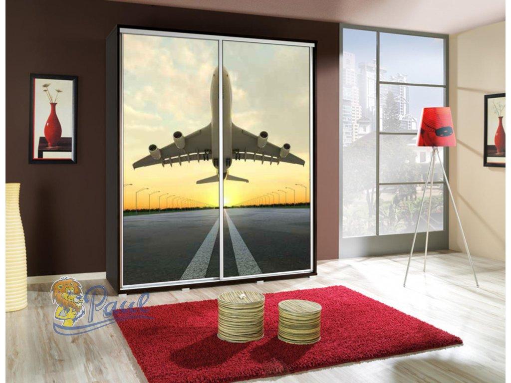 Šatní skříň Penelopa Letadlo