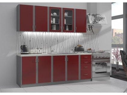 Kuchyň Elma Bordo 2