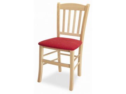 židle pamela látka červená