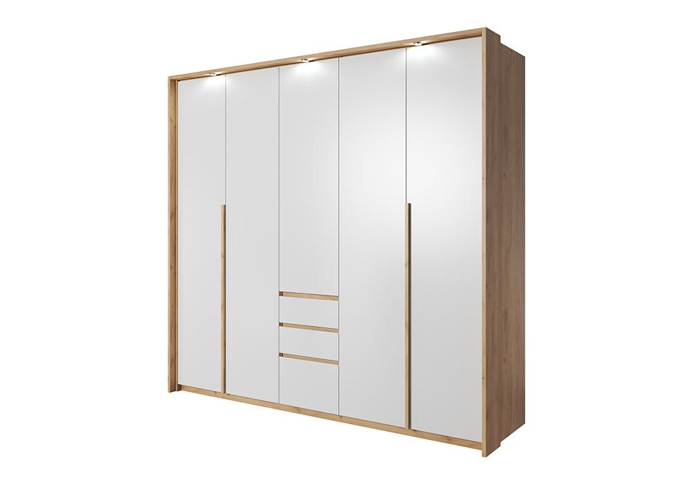 Laski Ložnice Xelo Barva: Bílá/dub craft zlatý, Varianta: Šatní skříň