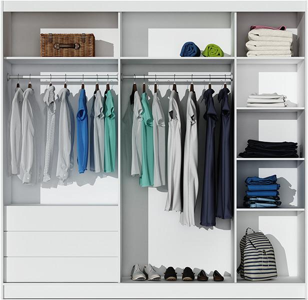 Stolar Ložnice Dubaj Barva: Bílá + černé sklo, Varianty: Šatní skříň