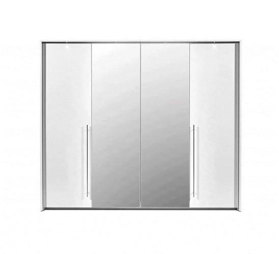 Stolar Ložnice Brema Barva: Bílá/zrcadlo