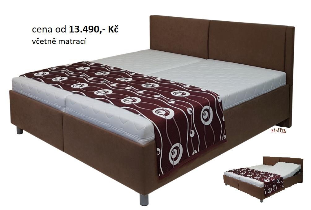 postel s volnými matracemi