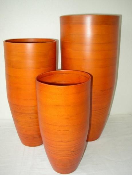 Bambusové misky a vázy