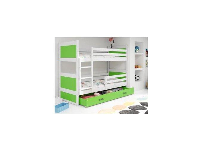 patrová postel Rico zelená