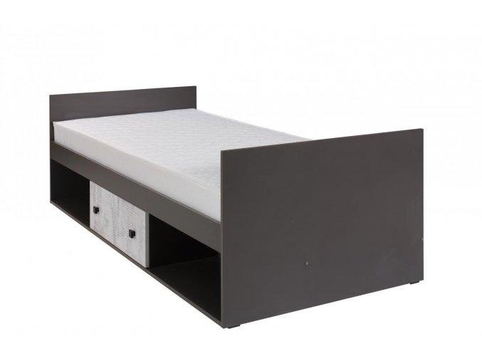 Postel s matrací Tomio R20 90x200 grafit/enigma