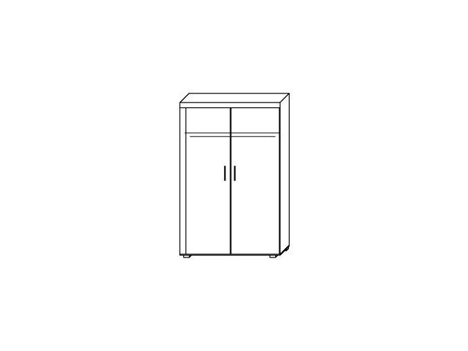 Skříň Samir R1 švestka/grafit