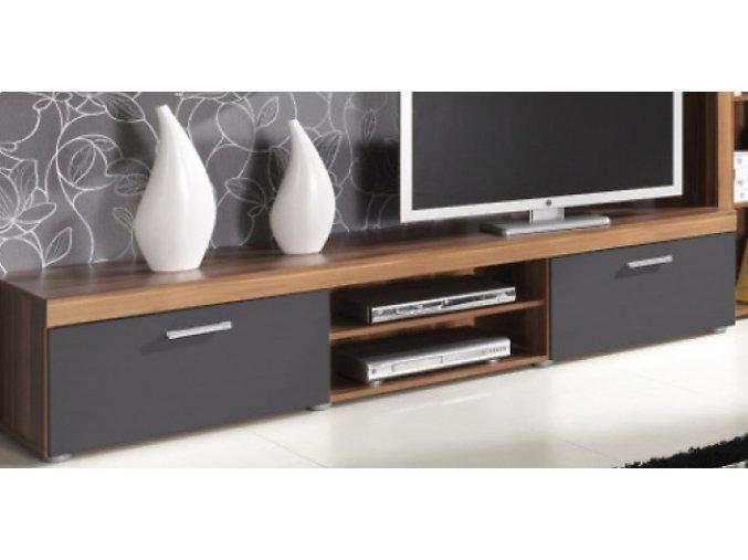 TV stolek Samir R8 svestka/grafit