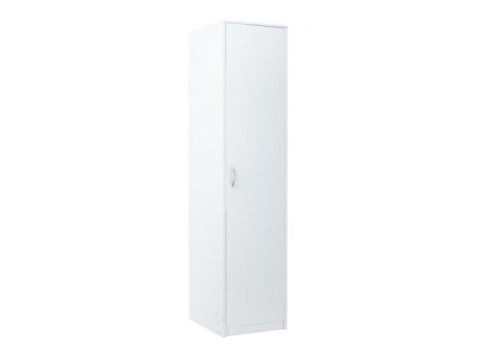 Šatní skříň VIKA 1D bílá