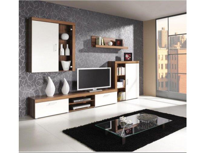 Obývací stěna Samir švestka/cream