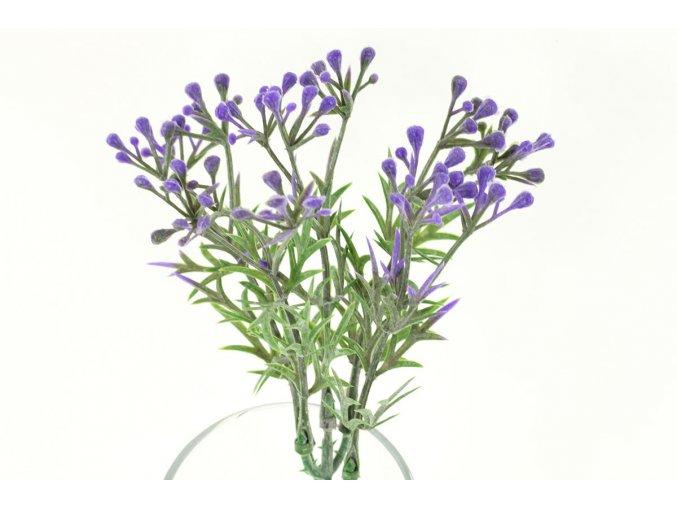 Květina umělá plastová. Barva lila