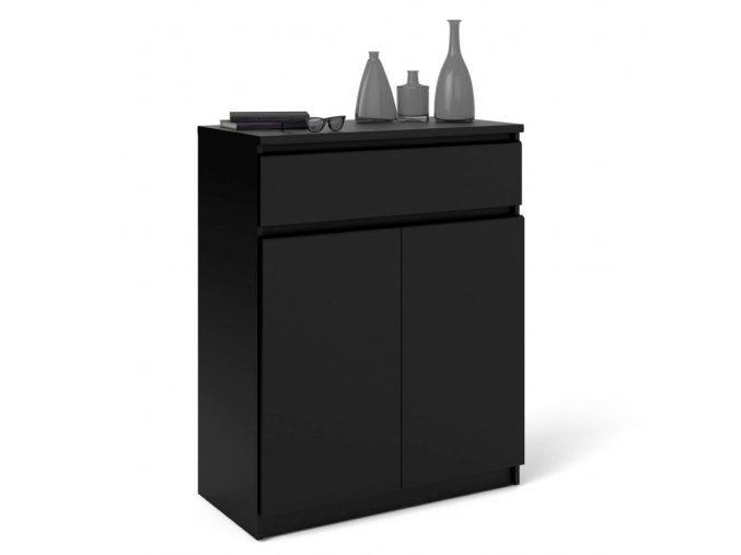 Komoda Simplicity 075 černá MAT