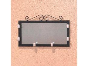 Zrcadlo/svícen dekorace kov černý