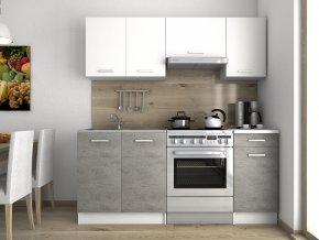 Kuchyňská linka Luigi 120/180 bílá/beton