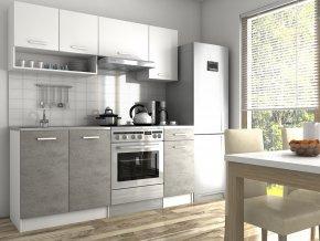 Kuchyňská linka Luigi II 120/180 bílá/beton