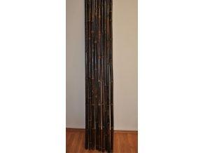 Bambusová tyč 3-4 cm, délka 4 metry, bambus black - podélně prasklá