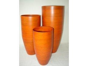 Bambusová váza klasik oranžová M