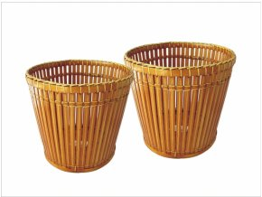 Bambusový obal na květináč set 2 ks