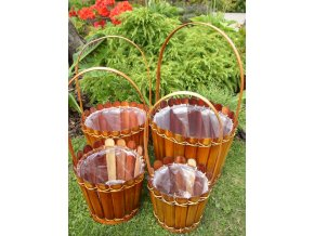 Bambusový obal na květinu set 4 ks