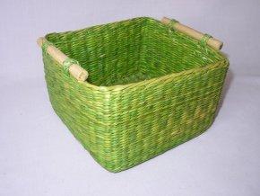 Košík mořská tráva zelevý