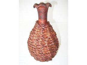 Váza pálená dekor mořské řasy