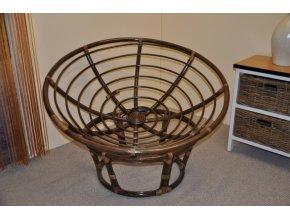 Ratanový papasan 110 cm hnědý - konstrukce bez polstru