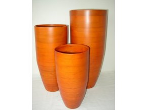 Bambusová váza klasik oranžová L