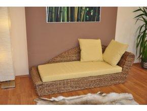 Odpočinková pohovka levá banánový list polstr žlutý