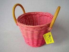 Ratanový košík ucha růžový