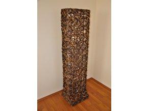 Lampa ratanová vysoká bambus včetně LED žárovek