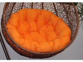 Polstr na závěsnou houpačku Imperia - oranžový melír