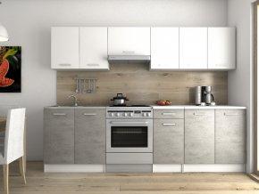Kuchyňská linka Luigi 200/260 bílá/beton