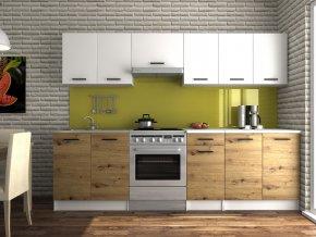 Kuchyňská linka Luigi 200/260 bílá/dub artisan
